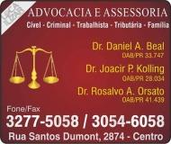 JOACIR PEDRO KOLLING ADVOCACIA oab/pr 28.034