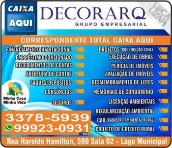 DECORARQ BANCO CAIXA AQUI CONSTRUTORA