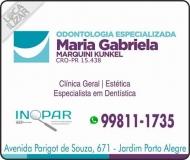 CIRURGIÃO DENTISTA MARIA GABRIELA MARQUINI KUNKEL / DENTÍSTICA RESTAURADORA