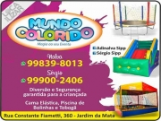 Cartão: MUNDO COLORIDO LOCAÇÕES DE BRINQUEDOS
