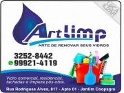 Cartão: ART LIMP LIMPEZA DE VIDROS EM GERAL