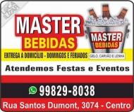 MASTER DISTRIBUIDORA DE BEBIDAS / CARVÃO / GELO