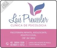 CLÍNICA DE PSICOLOGIA LAÍS PREUSSLER DRA. PSICÓLOGA