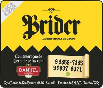 BRIDER DISTRIBUIDORA DE CHOPP DANKEL DISK