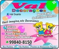 VAL DECORAÇÕES / EVENTOS / LOCAÇÕES DE BRINQUEDOS