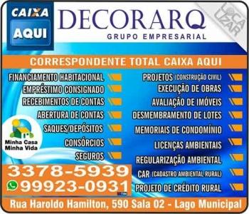 DECORARQ BANCO CAIXA AQUI / CONSTRUTORA