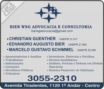 ADVOCACIA MARCELO GUSTAVO SCHIMMEL / DIREITO TRABALHISTA E PREVIDENCIÁRIO / BIER WSG
