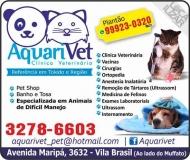 AQUARIVET CLÍNICA VETERINÁRIA E PET SHOP / ANIMAIS DE DIFÍCIL MANEJO / ORTOPEDIA CANINA