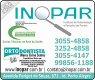 INOPAR INSTITUTO DE ODONTOLOGIA E PESQUISA DO PARANÁ CURSOS CIRURGIÃO DENTISTA