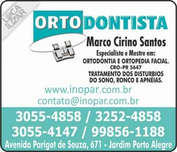 CIRURGIÃO DENTISTA MARCO CIRINO SANTOS / ORTODONTISTA / INOPAR