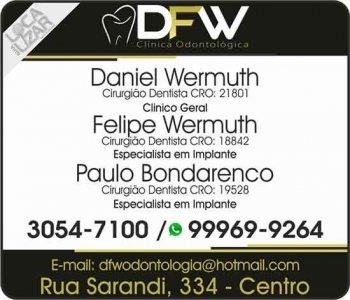 DFW CLÍNICA ODONTOLÓGICA CIRURGIÃO DENTISTA