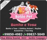 SALÃO PET SHOP BANHO E TOSA