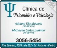 CLÍNICA DE PSICOLOGIA E PSICANÁLISE MICHAELLA CARLA LAURINDO / PSICÓLOGA