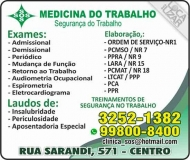 CLÍNICA SOS MEDICINA E SEGURANÇA DO TRABALHO
