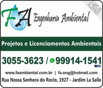 FA ENGENHARIA / PLANEJAMENTO AMBIENTAL