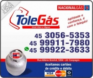 TOLEGÁS GÁS / DISK GÁS E ÁGUA MINERAL / NACIONAL GÁS
