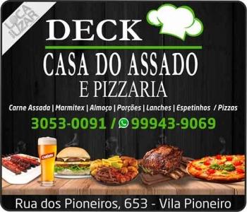 DECK CASA DO ASSADO CARNE ASSADA LANCHONETE