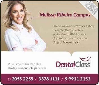 DENTAL CLASS CLÍNICA ODONTOLÓGICA MELISSA RIBEIRO CAMPOS DRA. CIRURGIÃ DENTISTA