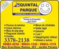 QUINTAL PARQUE LOCAÇÕES DE BRINQUEDOS