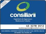 Cartão: CONSILIARII ENGENHARIA DE SEGURANÇA E MEDICINA DO TRABALHO