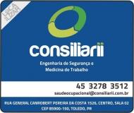 CONSILIARII ENGENHARIA DE SEGURANÇA E MEDICINA DO TRABALHO CLÍNICA