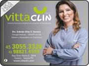 Cartão: VITTA CLIN CLÍNICA ODONTOLÓGICA GABRIELA ULIAN O. SOMENSI Dra. CIRURGIÃ DENTISTA