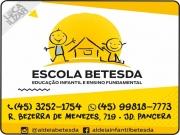 Cartão: BETESDA ALDEIA INFANTIL CENTRO SOCIAL E EDUCACIONAL ESCOLA