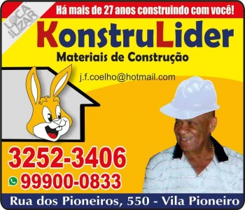 KONSTRULIDER MATERIAIS DE CONSTRUÇÃO