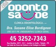 ODONTO SAÚDE CLÍNICA ODONTOLÓGICA SUZANE ELISE BORDIGNON Dra. CIRURGIÃO DENTISTA
