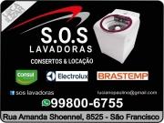 Cartão: S.O.S REFRIGERAÇÃO E LOCAÇÃO DE LAVADORAS