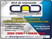 Cartão: CAD DESIGN BIRÔ DE IMPRESSÃO E PLOTAGEM