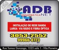 ADB NET INFORMÁTICA E INTERNET FIBRA ÓPTICA / BANDA LARGA VIA RÁDIO