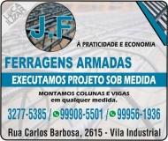 J. F FERRAGENS ARMADAS e VERGALHÕES Ferro e Aço