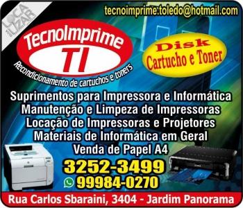 TECNOIMPRIME RECARGAS DE CARTUCHOS E TONERS INFORMÁTICA E ASSISTÊNCIA TÉCNICA