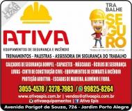 ATIVA EQUIPAMENTOS DE SEGURANÇA / INCÊNDIO