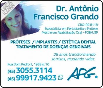AFG CLÍNICA ODONTOLÓGICA ANTÔNIO FRANCISCO GRANDO DR. CIRURGIÃO DENTISTA