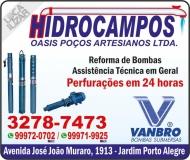HIDROCAMPOS POÇOS ARTESIANOS