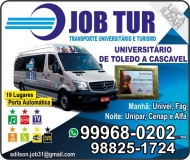 JOB TUR TRANSPORTE UNIVERSITÁRIO E TURISMO