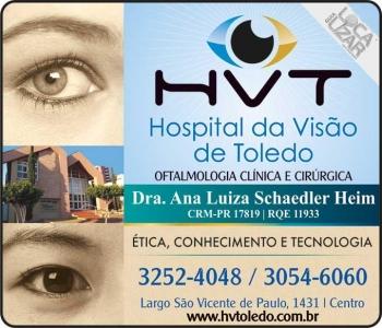 HOSPITAL DA VISÃO DE TOLEDO CLÍNICA DE OFTALMOLOGIA ANA LUIZA SCHAEDLER HEIM / GLAUCOMA / MIOPIA