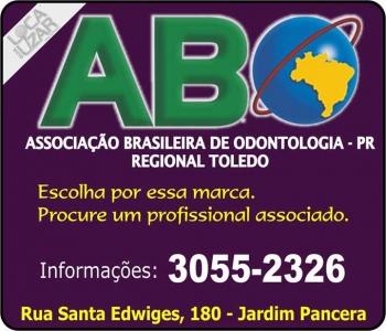 ASSOCIAÇÃO BRASILEIRA DE ODONTOLOGIA ABO TOLEDO Presidente Dra. Maxwelli Fernanda Tauchert