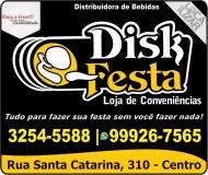 DISK FESTA DISTRIBUIDORA DE BEBIDAS / CARVÃO / GELO