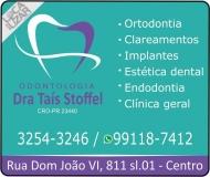 CIRURGIÃO DENTISTA TAIS STOFFEL / ORTODONTISTA