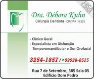CIRURGIÃO DENTISTA DÉBORA SCHMIDT KUHN / DOR OROFACIAL