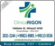 CLINICA DE FONOAUDIOLOGIA / CLÍNICA RIGON  Dra. FABIANE MINUZZI WILD