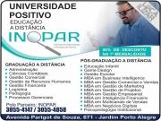 Cartão: INOPAR CURSOS UNIVERSIDADE POSITIVO CURSOS À DISTÂNCIA