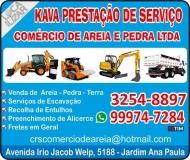 KAVA PRESTAÇÃO DE SERVIÇO CRS COMÉRCIO DE AREIA E PEDRA