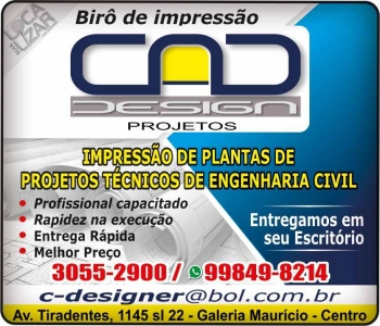CAD DESIGN BIRÔ DE IMPRESSÃO E PLOTAGEM