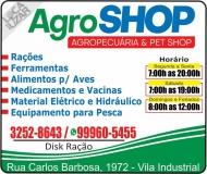 AGROSHOP AGROPECUÁRIA E PRODUTOS AGROPECUÁRIOS / PET SHOP