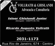 VOLLRATH E GHISLANDI ADVOCACIA / CONSULTORIA