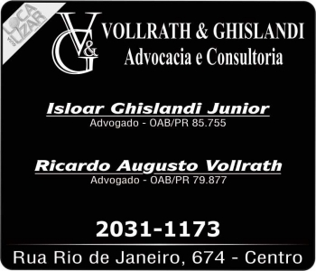 ADVOCACIA RICARDO AUGUSTO VOLLRATH / DIREITO TRABALHISTA E EMPRESARIAL / VOLLRATH E GHISLANDI